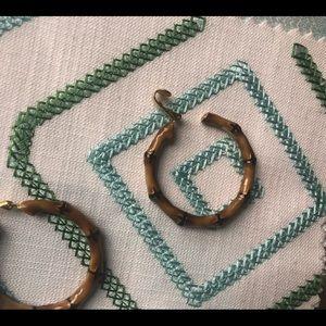 Kenneth Jay Lane Jewelry - Kenneth J Lane earrings bamboo clip earrings